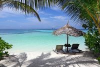 Gangehi Island Resort maldives Beach Villa beach