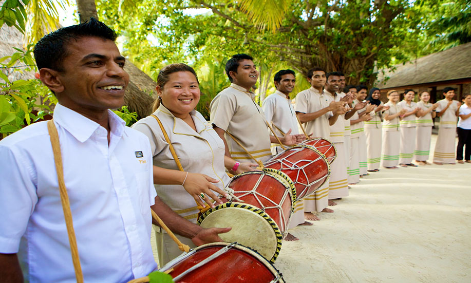 Kuredu Island Resort hotel maldives welcome
