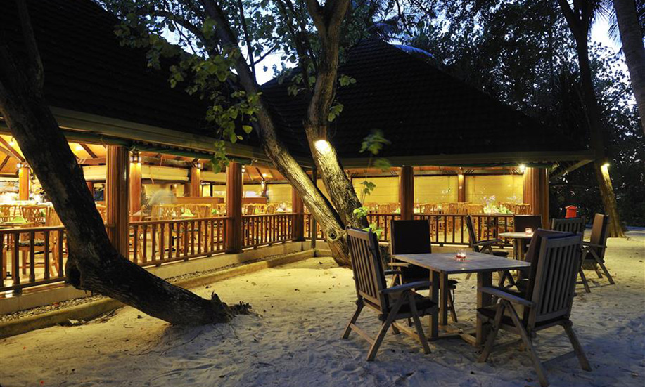 Paradise Island Resort Spa Maldives dining on beach