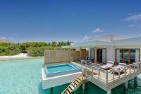 Dhigali Maldives lagoon villa with pool