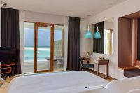 Dhigali Maldives lagoon villa with pool room