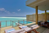 Dhigali Maldives lagoon villa with pool terrace