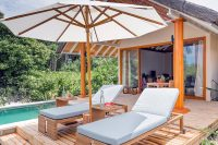 Kudafushi Resort Spa Beach Villa with Pool sunchairs
