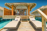 Kudafushi Resort Spa maldives Water Villa sun chairs